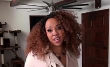 Sexy Ebony GF Nilaya Brown Seduces Boyfriend