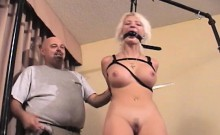 Naughty bitch relishes some real coarse bondage act