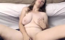 Busty milf ramming her pussy with toy