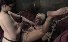 Dominant mistress pleasures her beautiful babe