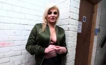 Rich blonde bangs busty blonde in public