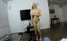 This cute petite blonde would make a perfect secretary or a