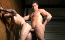 Big cock gay anal sex and cumshot