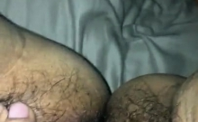 Hairy box bitch fingers and pisses in fetish solo in hd