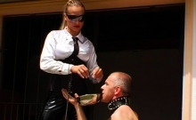 Excited femdom fetish with dude getting ramrod sucked hard