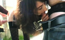 Ophelie gets analsex in the street