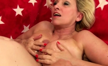 Horny Mature Woman And A Skinny Guy Kiss With Each Other He