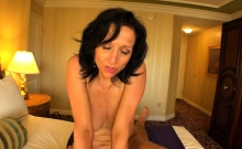 Brunette Milf Titty Fuck With Cum On Face