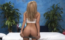 Delicious Massage Girl Strips Demonstrating Her Ass