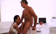 Teen tits fantasy Finally she's got her boss dick
