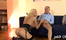 Rod riding together with blowjob by lustful floosy