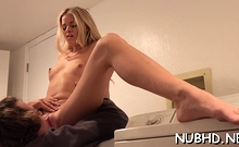 Naked Blonde Jessa Rhodes Adores Erected Dinky
