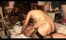 Blonde Granny In Stockings Nailed In The Keister