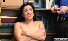 Shoplifter Teen Monica Sage rides dudes cock like a cowgirl