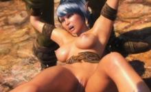 3D Hot Elf Girl Gangbanged by Orcs!