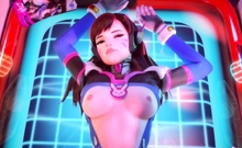 3D DVa Gets a Huge Dick in Her Cunt