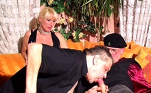 German Mature Couple First Time Cuckold Threesome Sex